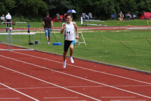 Toby Glass 400mtrs Hurdles, 2nd place in a PB of 57.4secs. 17 July 2016, Bromley