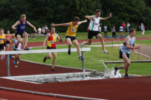 Alex Rowe (H) u17m's 1,500mtrs Steeplechase 17 July 2016, Bromley