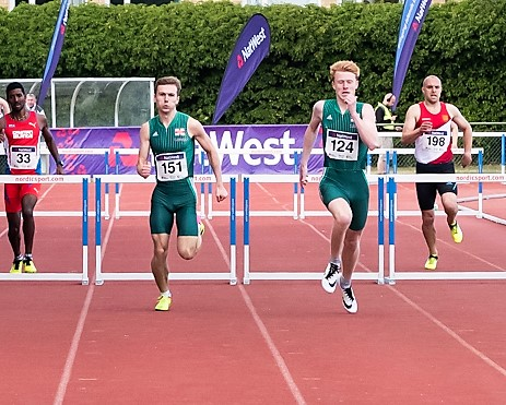 Sam Wallbridge (151) & Alastair Chalmers will both compete in the 400m hurdles and 4x400m relay