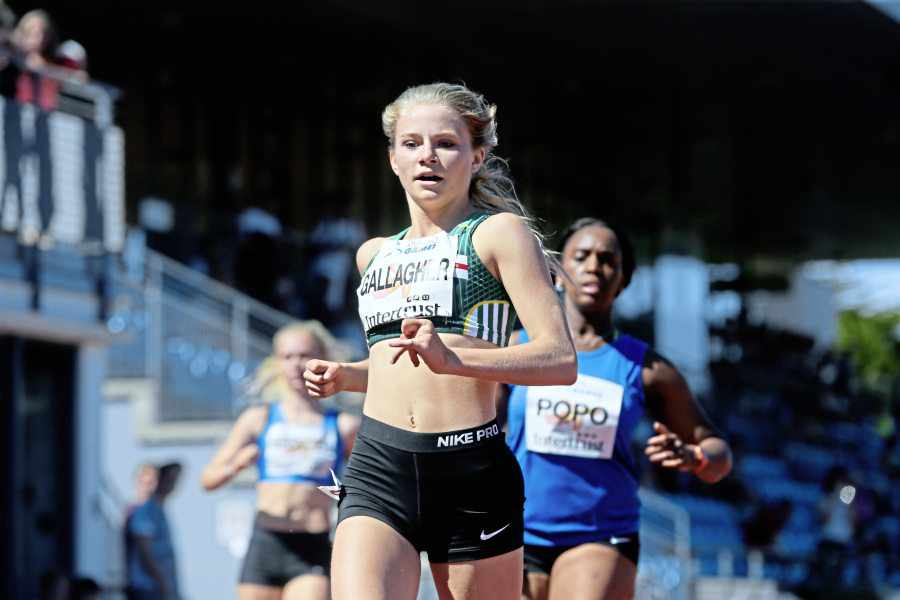 Gallagher takes U20 record as 400m lives up to top billing